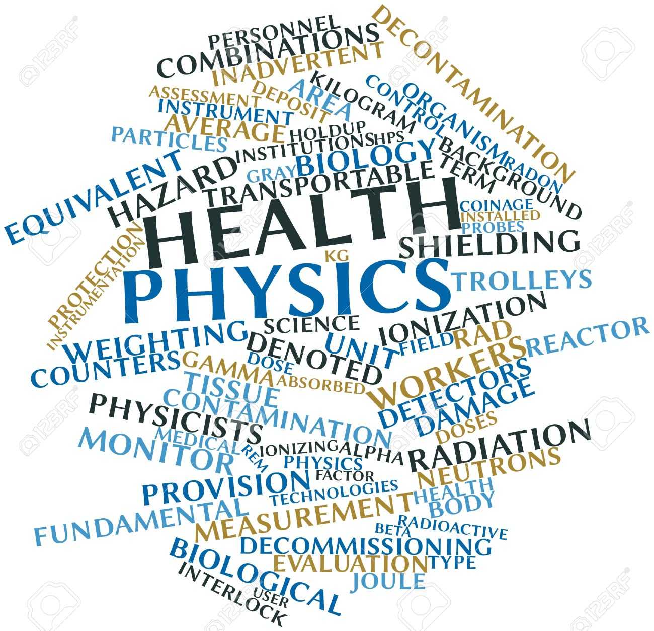 Abstract word cloud for Health physics with related tags and terms Stock Photo - 16632518