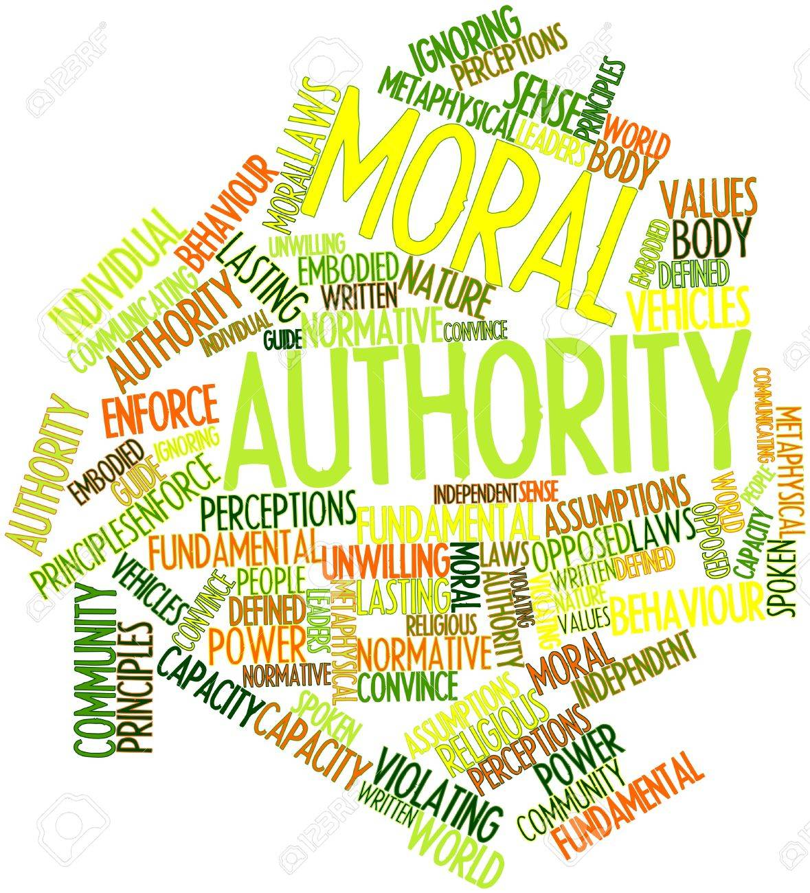 Abstract word cloud for Moral authority with related tags and terms Stock Photo - 16633427