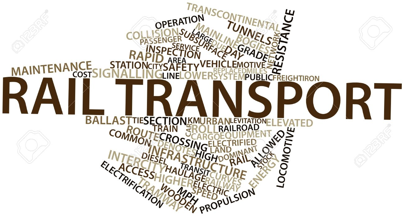 Abstract word cloud for Rail transport with related tags and terms Stock Photo - 16629978