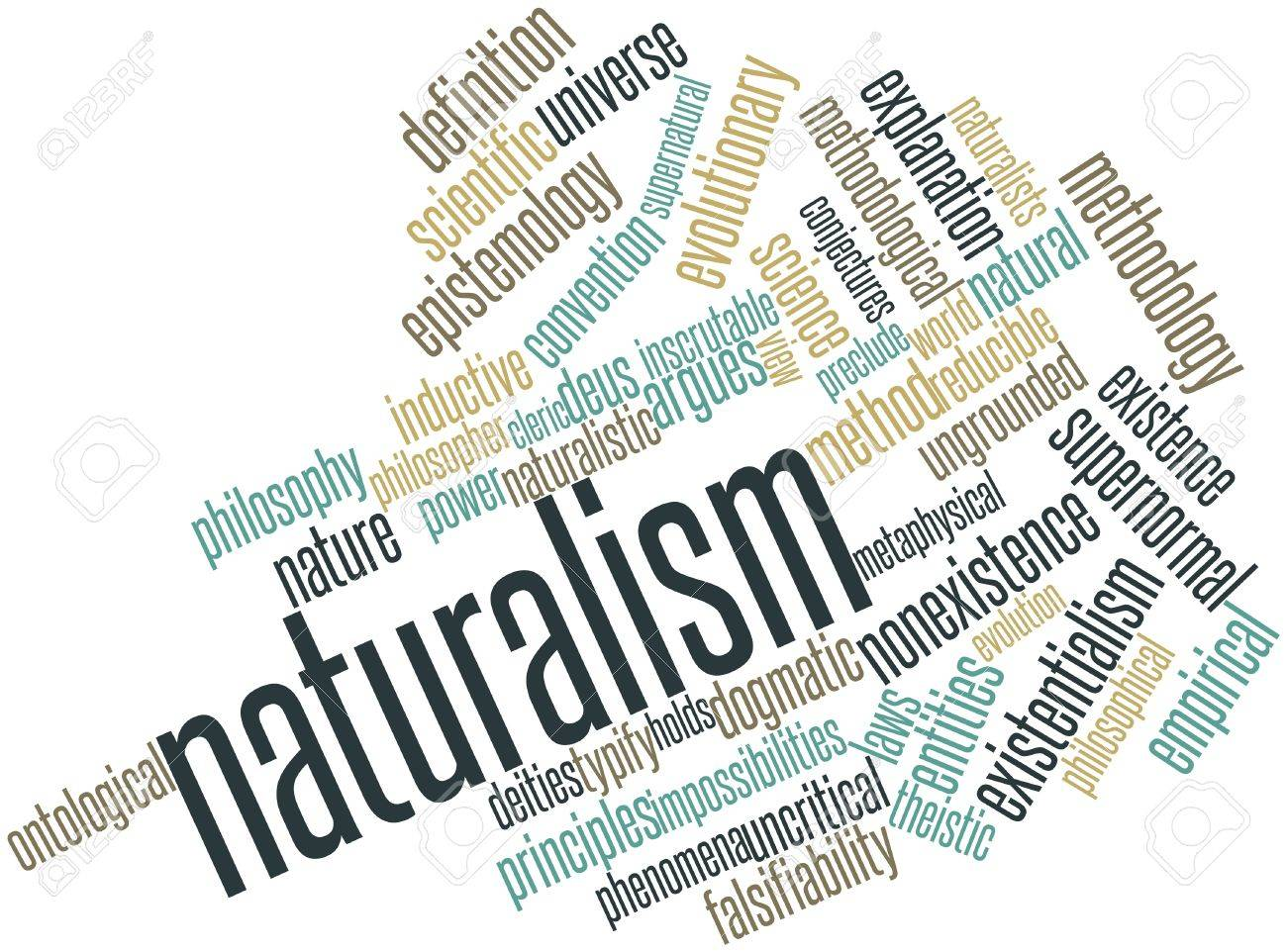 Abstract word cloud for Naturalism with related tags and terms Stock Photo - 16678422