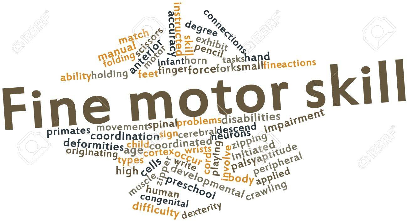 Abstract word cloud for Fine motor skill with related tags and terms Stock Photo - 16719337