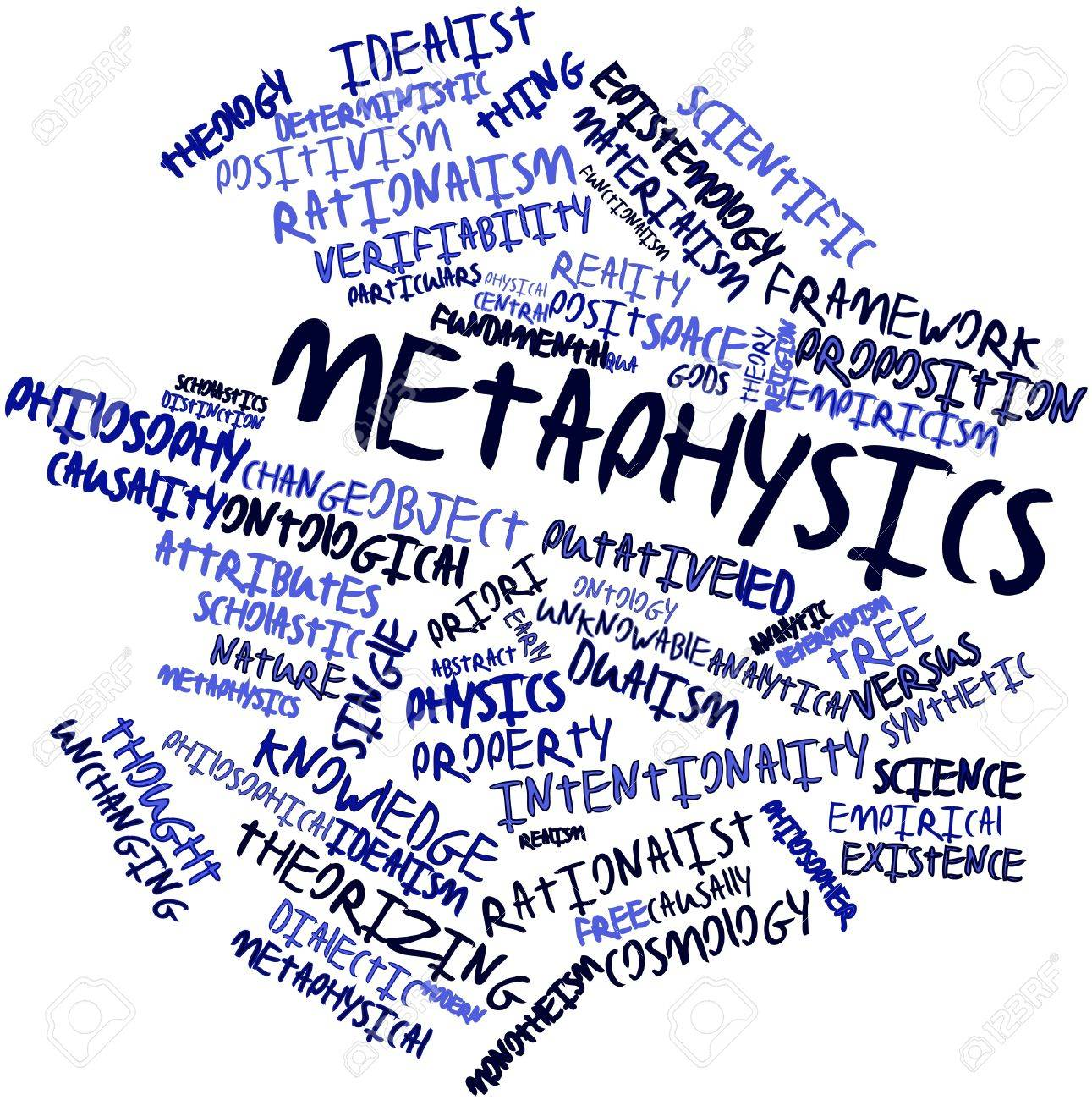 Abstract word cloud for Metaphysics with related tags and terms Stock Photo - 16720892