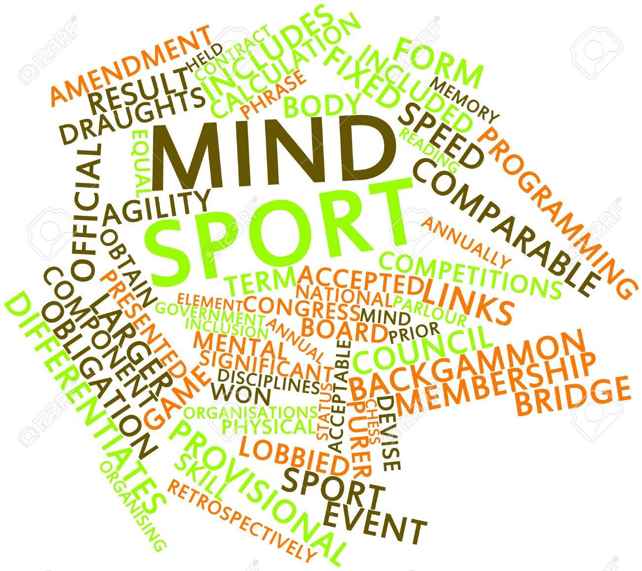 Abstract word cloud for Mind sport with related tags and terms Stock Photo - 16720297