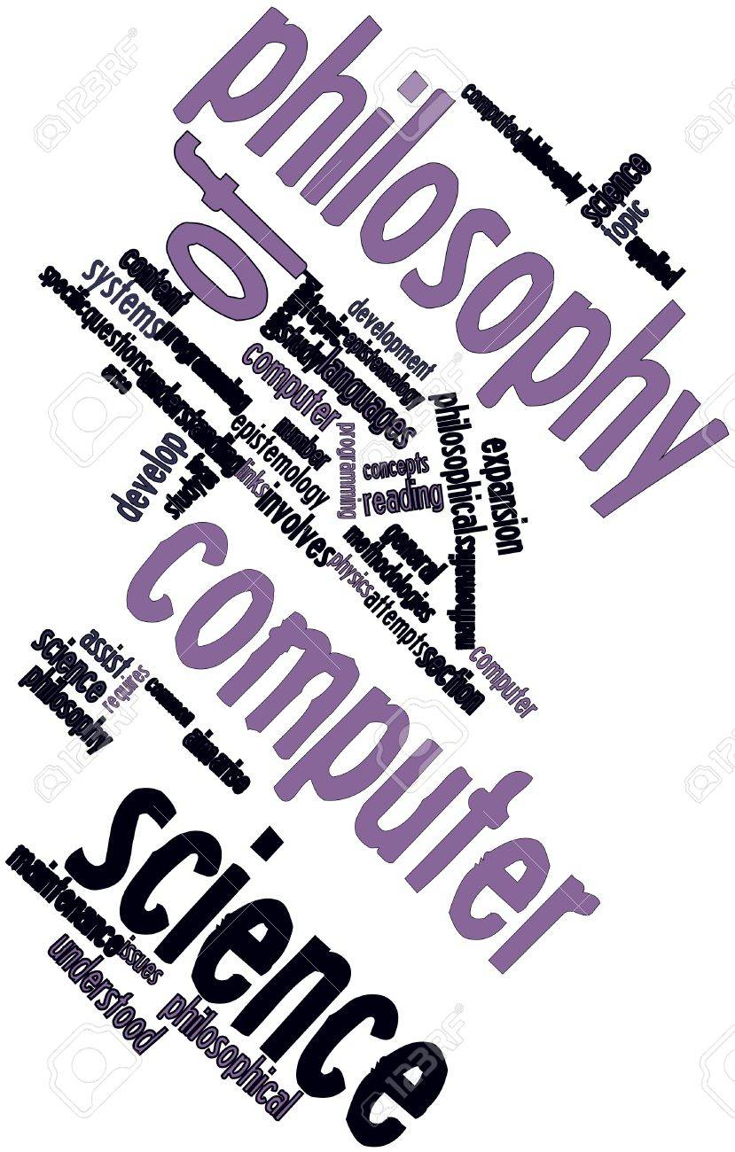 Abstract word cloud for Philosophy of computer science with related tags and terms Stock Photo - 16719571