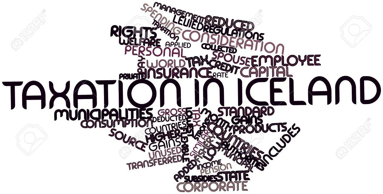 Abstract word cloud for Taxation in Iceland with related tags and terms Stock Photo - 16719576