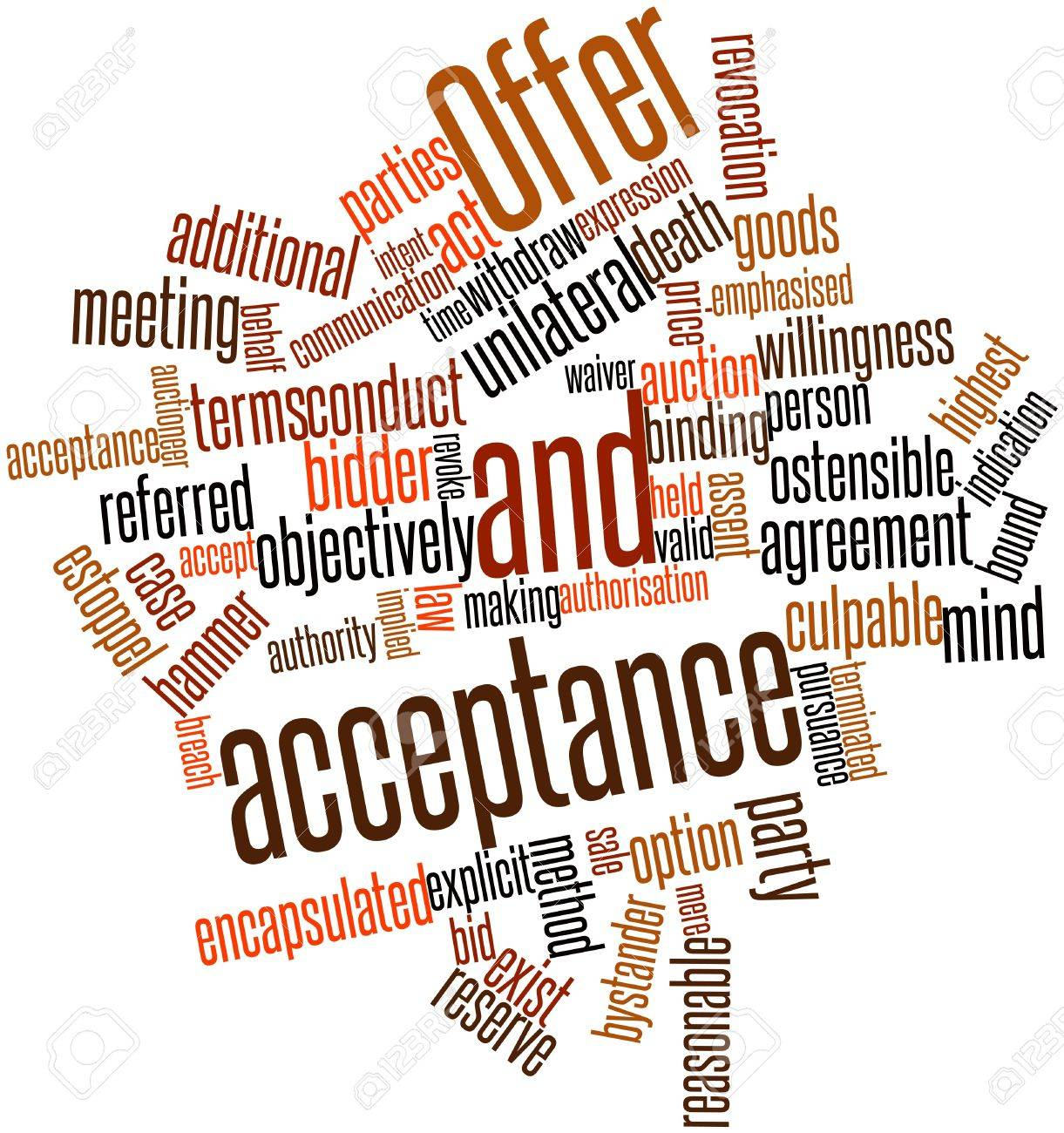 abstract word cloud for offer and acceptance related tags abstract word cloud for offer and acceptance related tags and terms stock photo 16739664