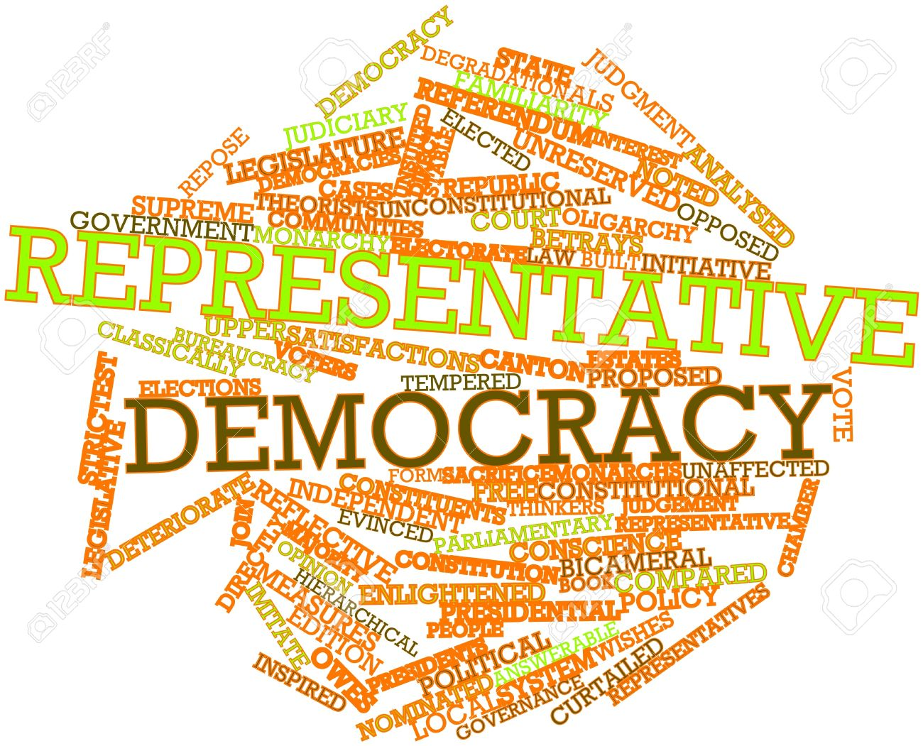 Abstract Word Cloud For Representative Democracy With Related ...