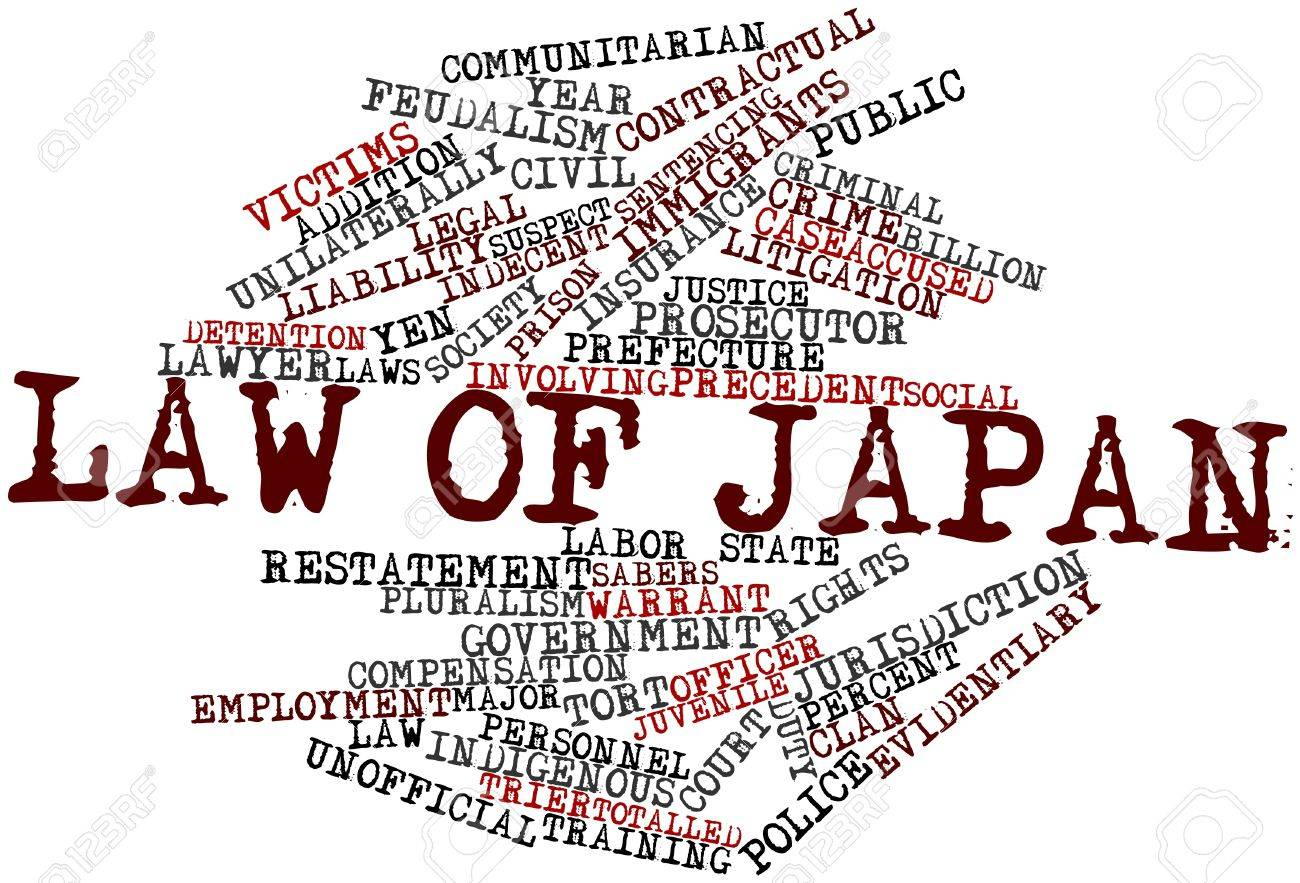 Abstract word cloud for Law of Japan with related tags and terms Stock Photo - 16772746