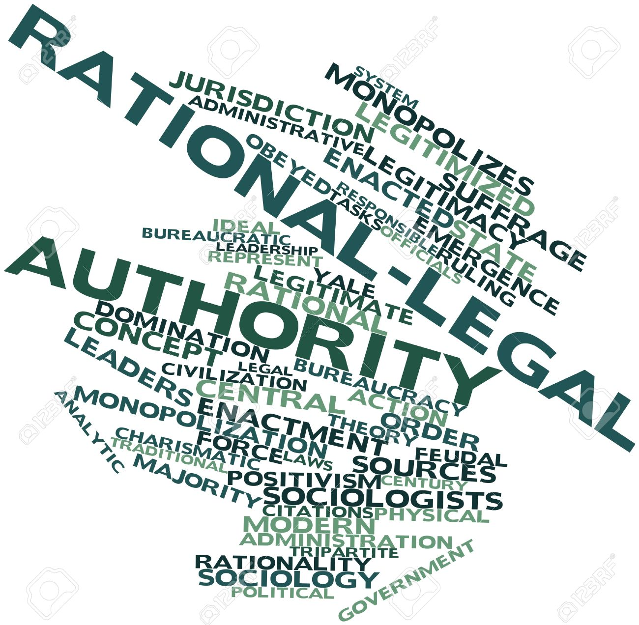Abstract word cloud for Rational-legal authority with related tags and terms Stock Photo - 16772710