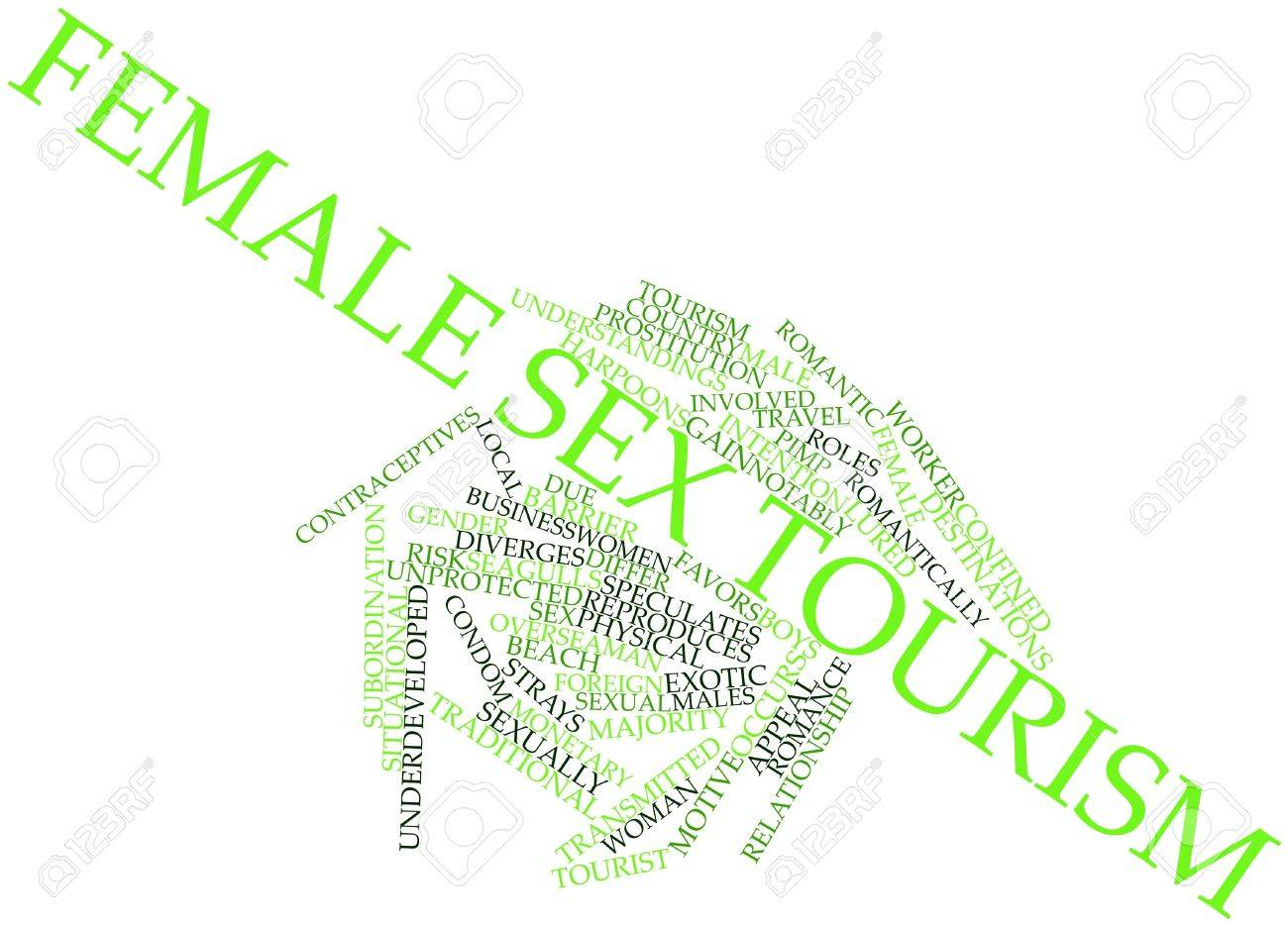 Abstract word cloud for Female sex tourism with related tags and terms Stock Photo - 16772872