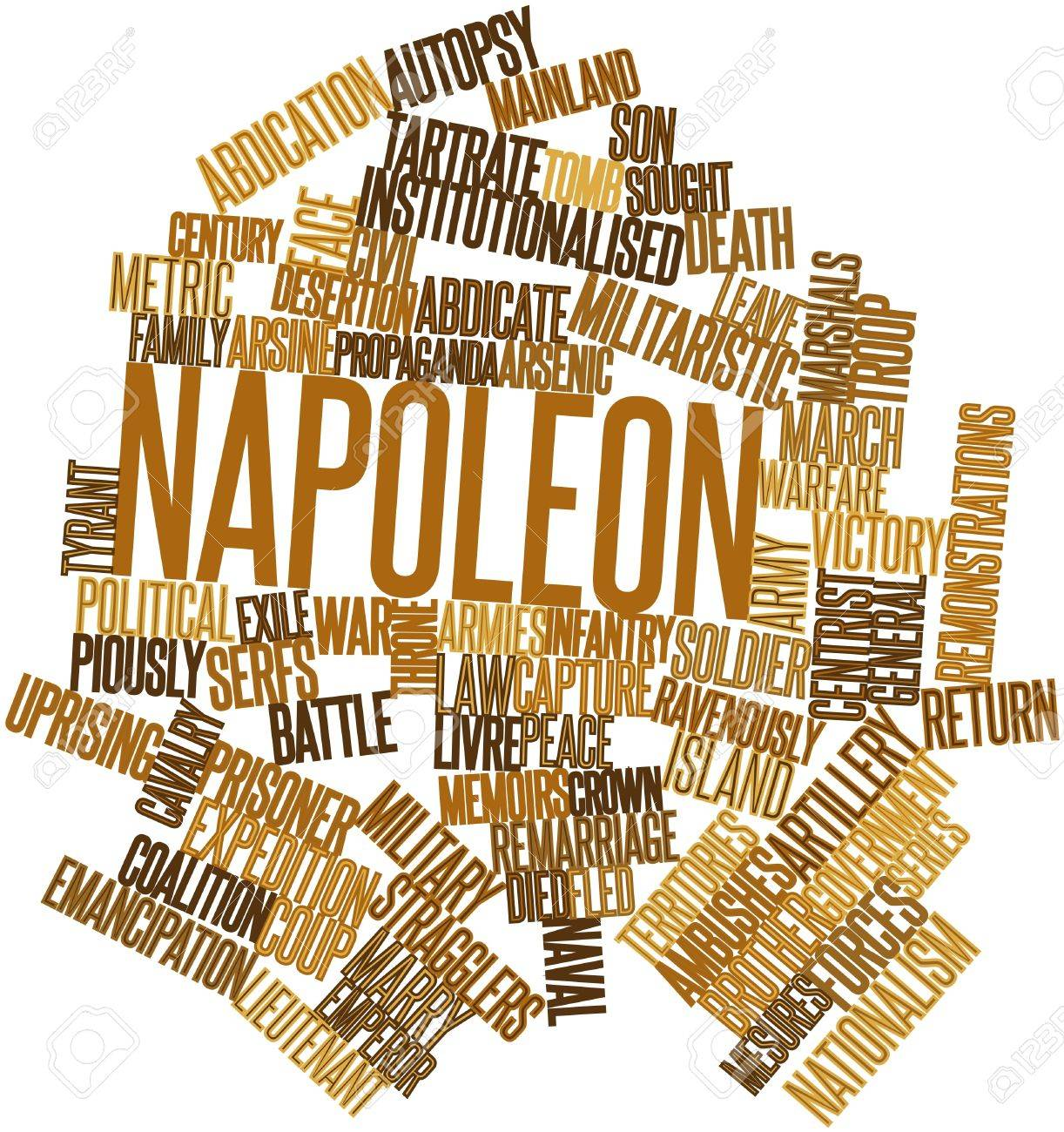 Abstract word cloud for Napoleon with related tags and terms Stock Photo - 16774767