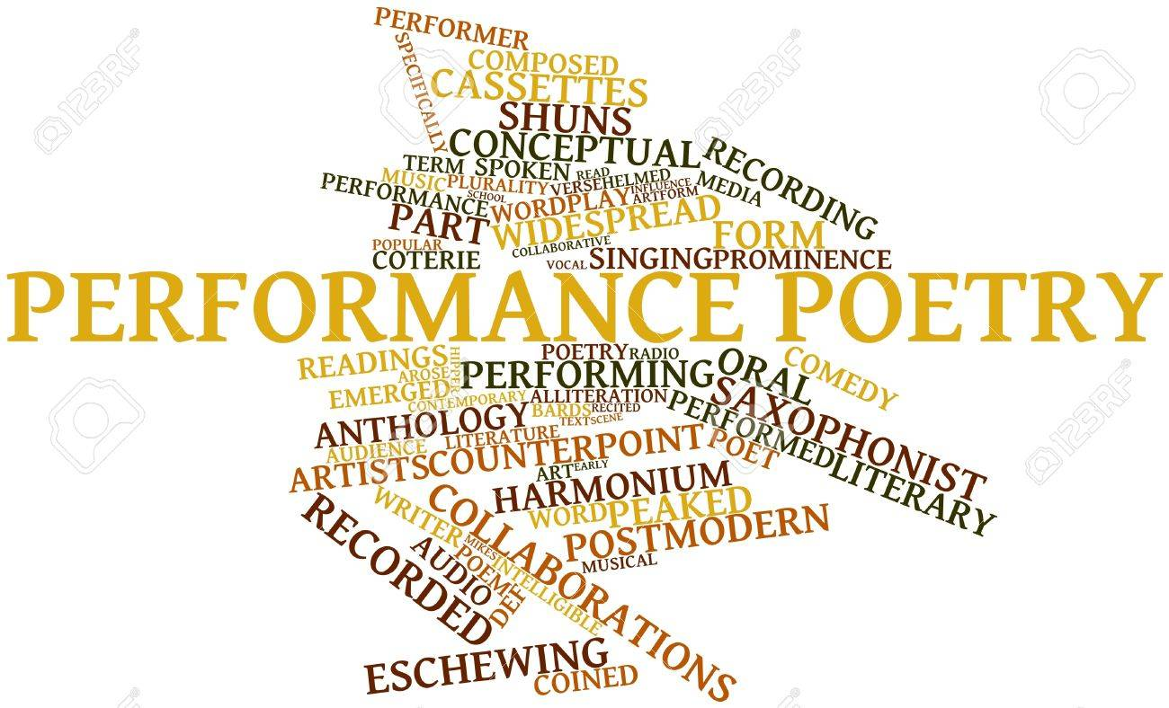 Abstract Word Cloud For Performance Poetry With Related Tags ...