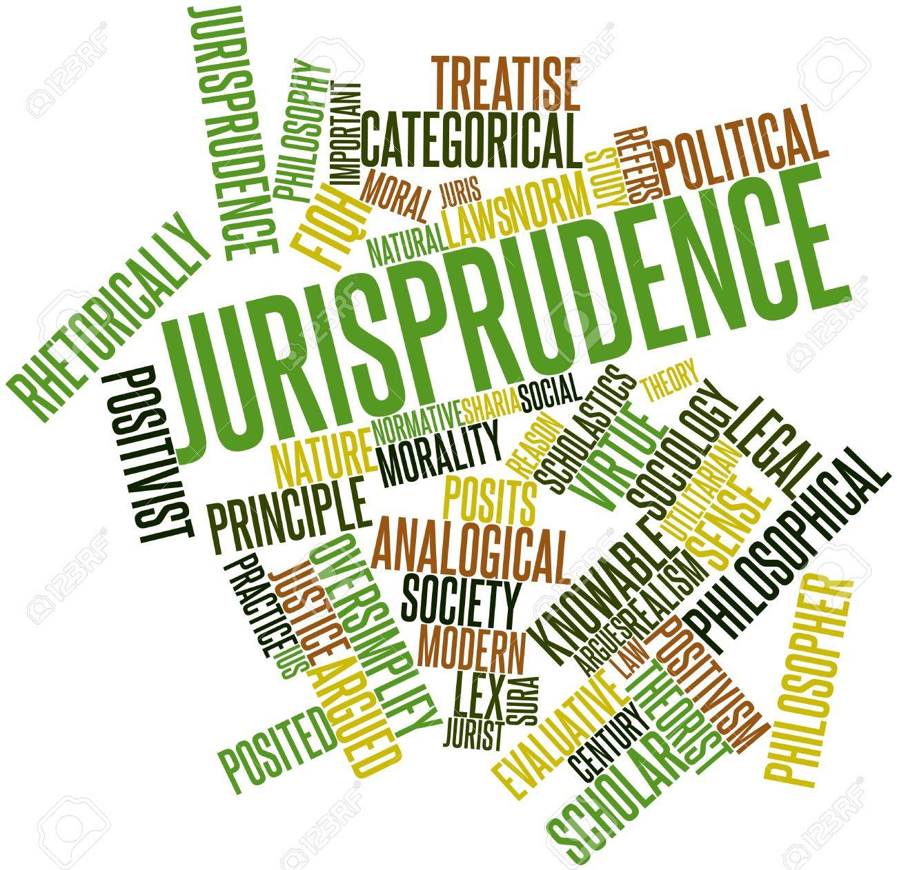 Abstract word cloud for Jurisprudence with related tags and terms Stock Photo - 16983499