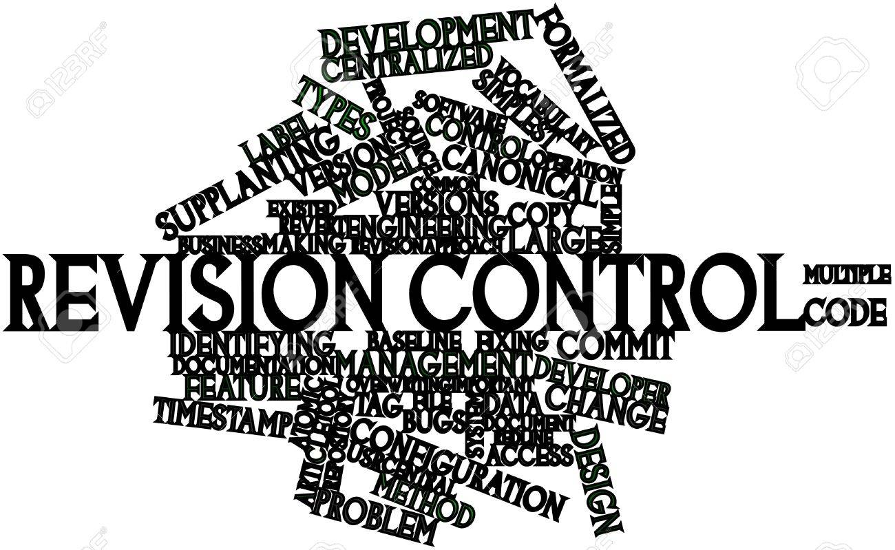 Abstract word cloud for Revision control with related tags and terms Stock Photo - 16982699