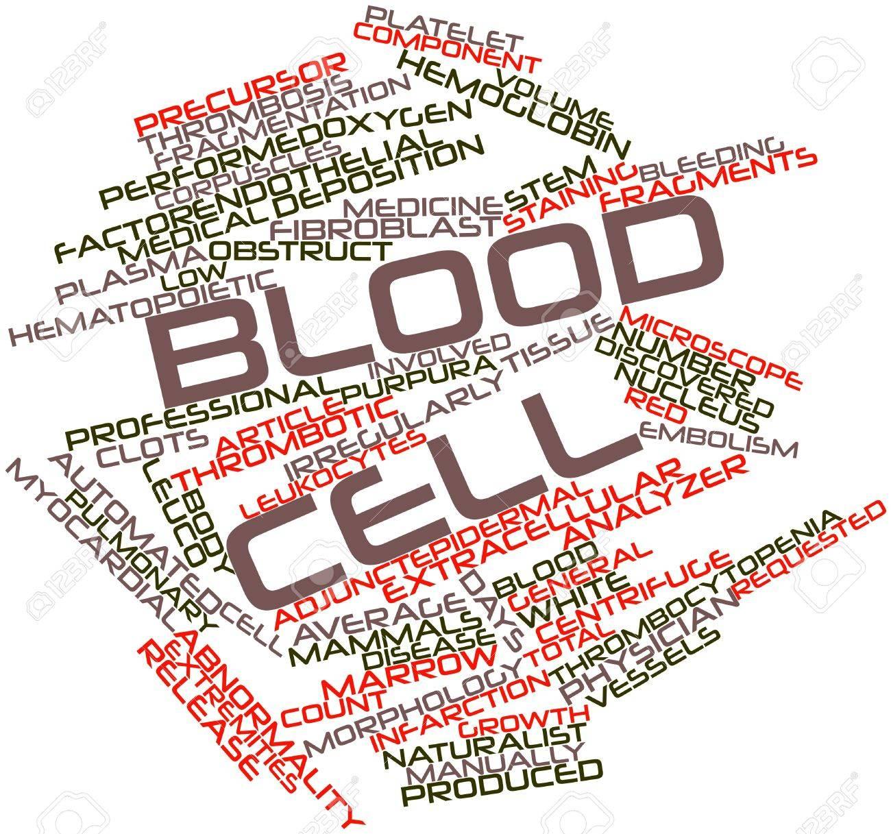 Nube Palabra Abstracta Para Célula De Sangre Con Etiquetas Y ...