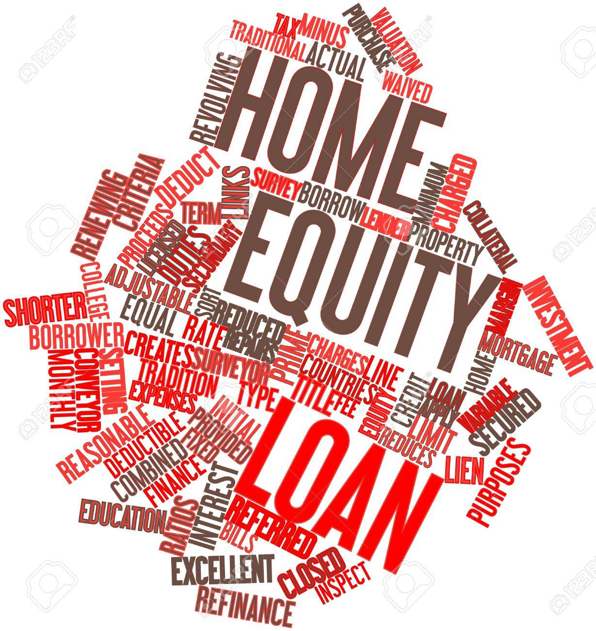Abstract word cloud for Home equity loan with related tags and terms Stock Photo - 17029808