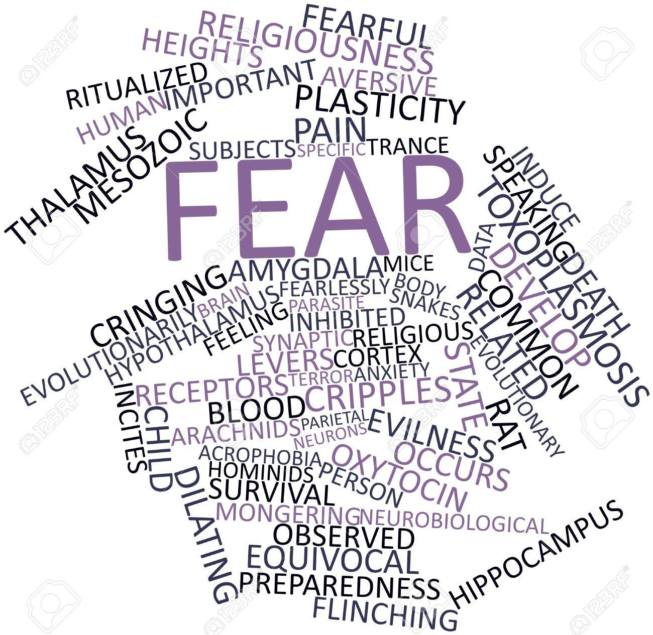 Abstract word cloud for Fear with related tags and terms Stock Photo - 17023928