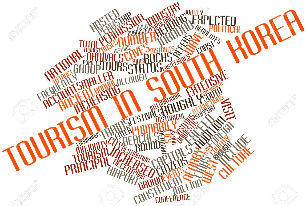 Abstract word cloud for Tourism in South Korea with related tags and terms Stock Photo - 17024070