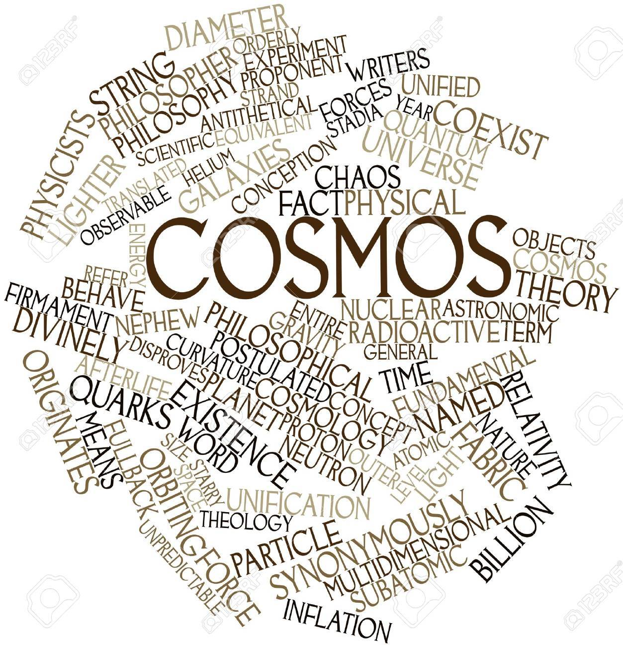Abstract word cloud for Cosmos with related tags and terms Stock Photo - 17149612