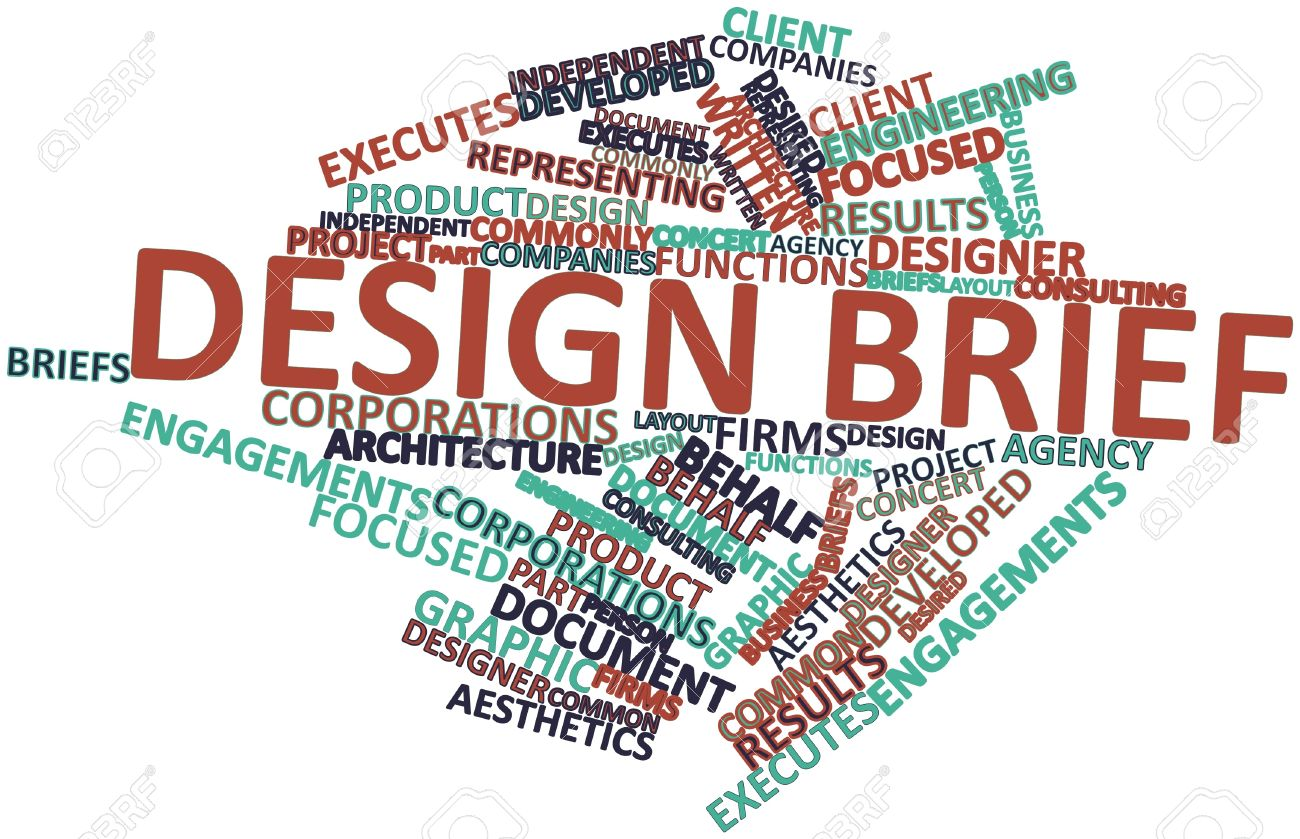 Abstract Word Cloud For Design Brief With Related Tags And Terms ...