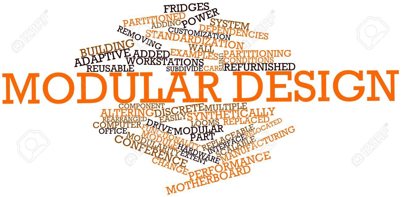 Abstract word cloud for Modular design with related tags and terms Stock Photo - 17139166