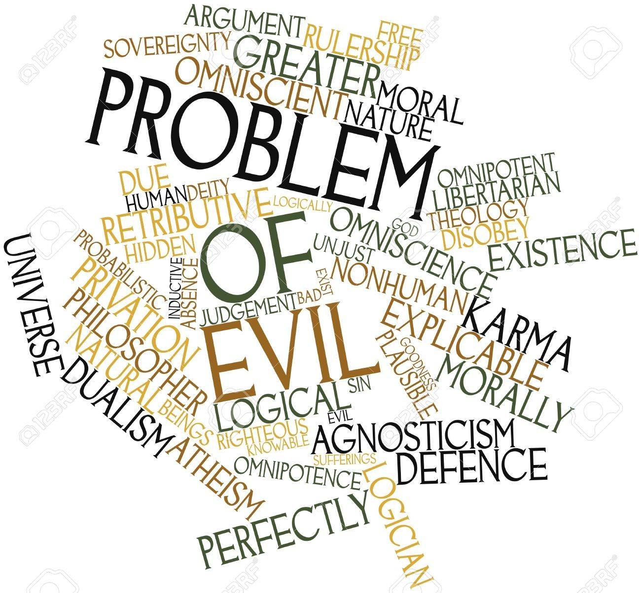 problem of evil essay abstract word cloud for problem of evil related tags and