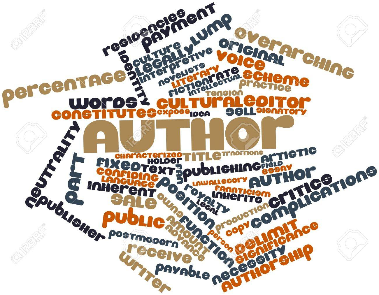 Abstract word cloud for Author with related tags and terms Stock Photo - 17141892