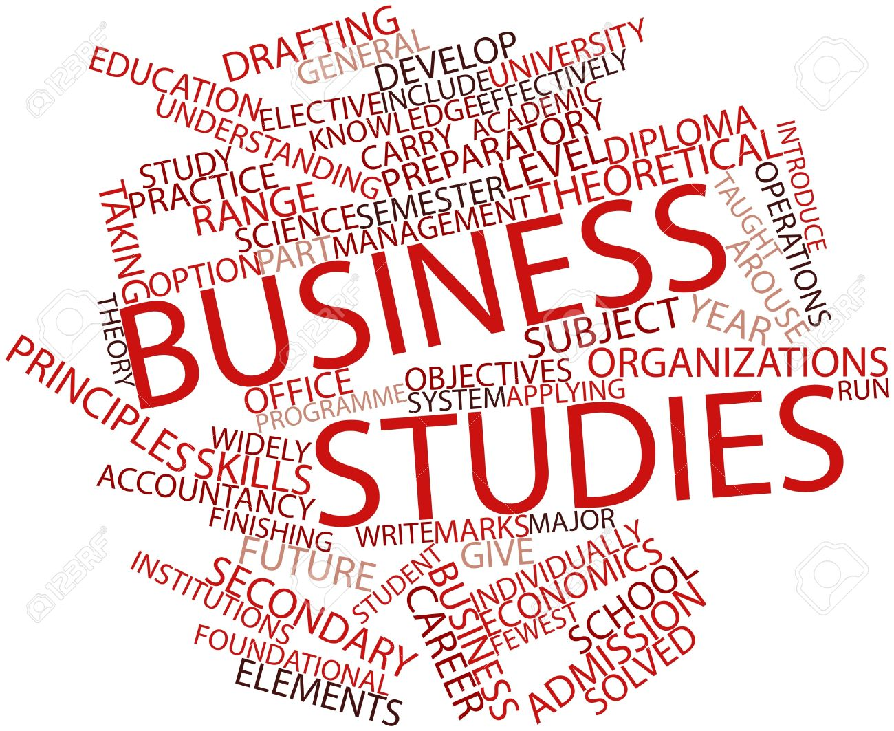 Abstract Word Cloud For Business Studies With Related Tags And ...
