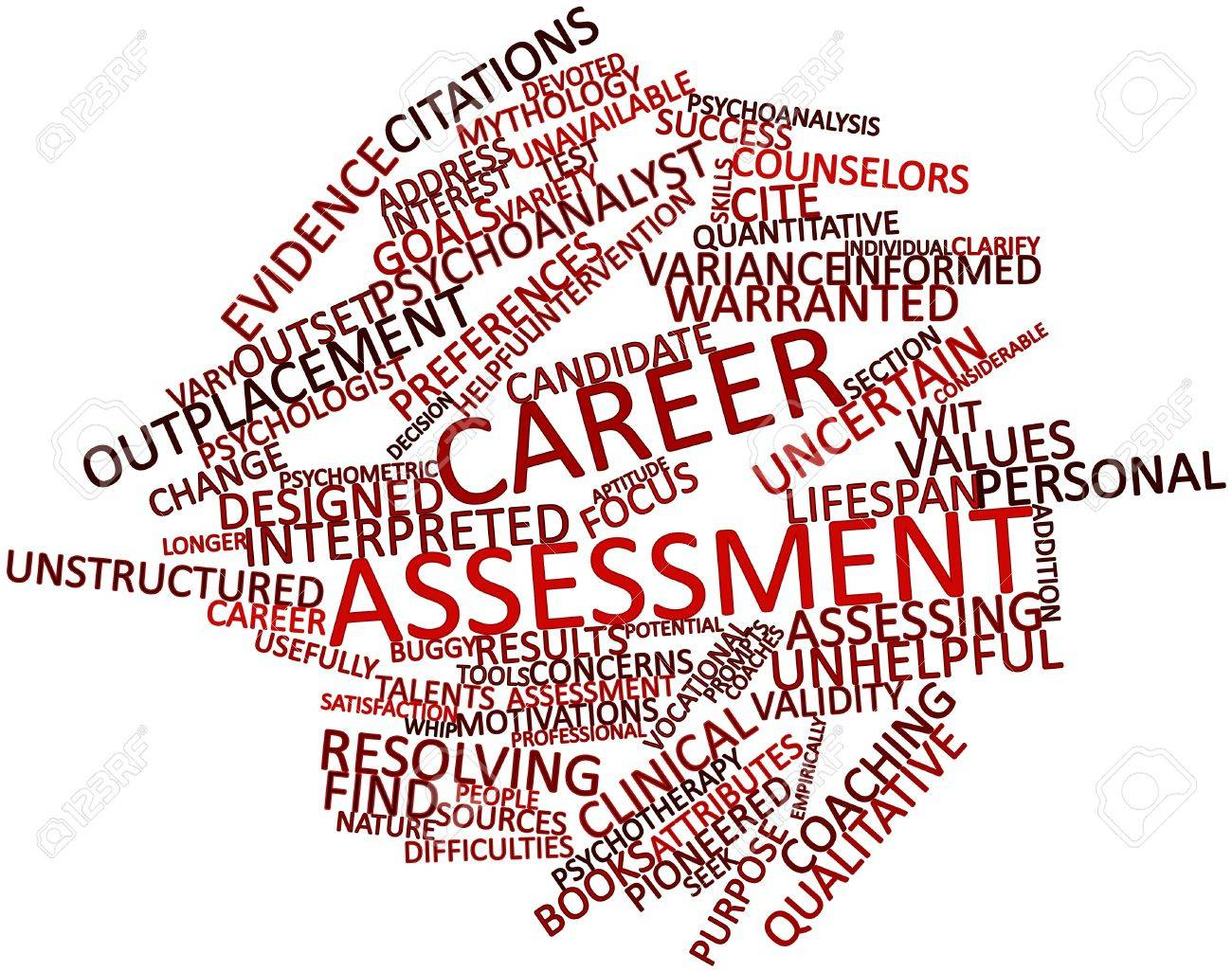 abstract word cloud for career assessment related tags and abstract word cloud for career assessment related tags and terms stock photo 17148977