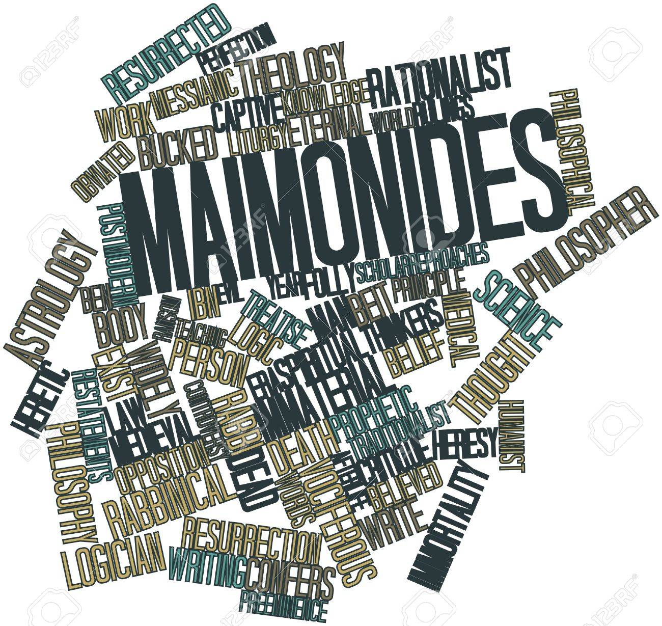 Abstract word cloud for Maimonides with related tags and terms Stock Photo - 17149670