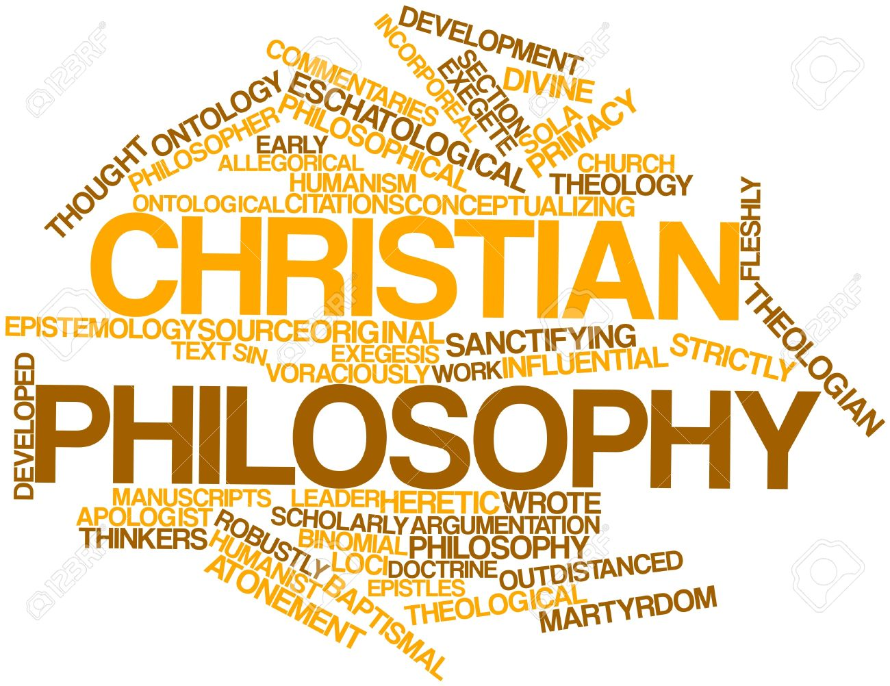 Abstract Word Cloud For Christian Philosophy With Related Tags ...