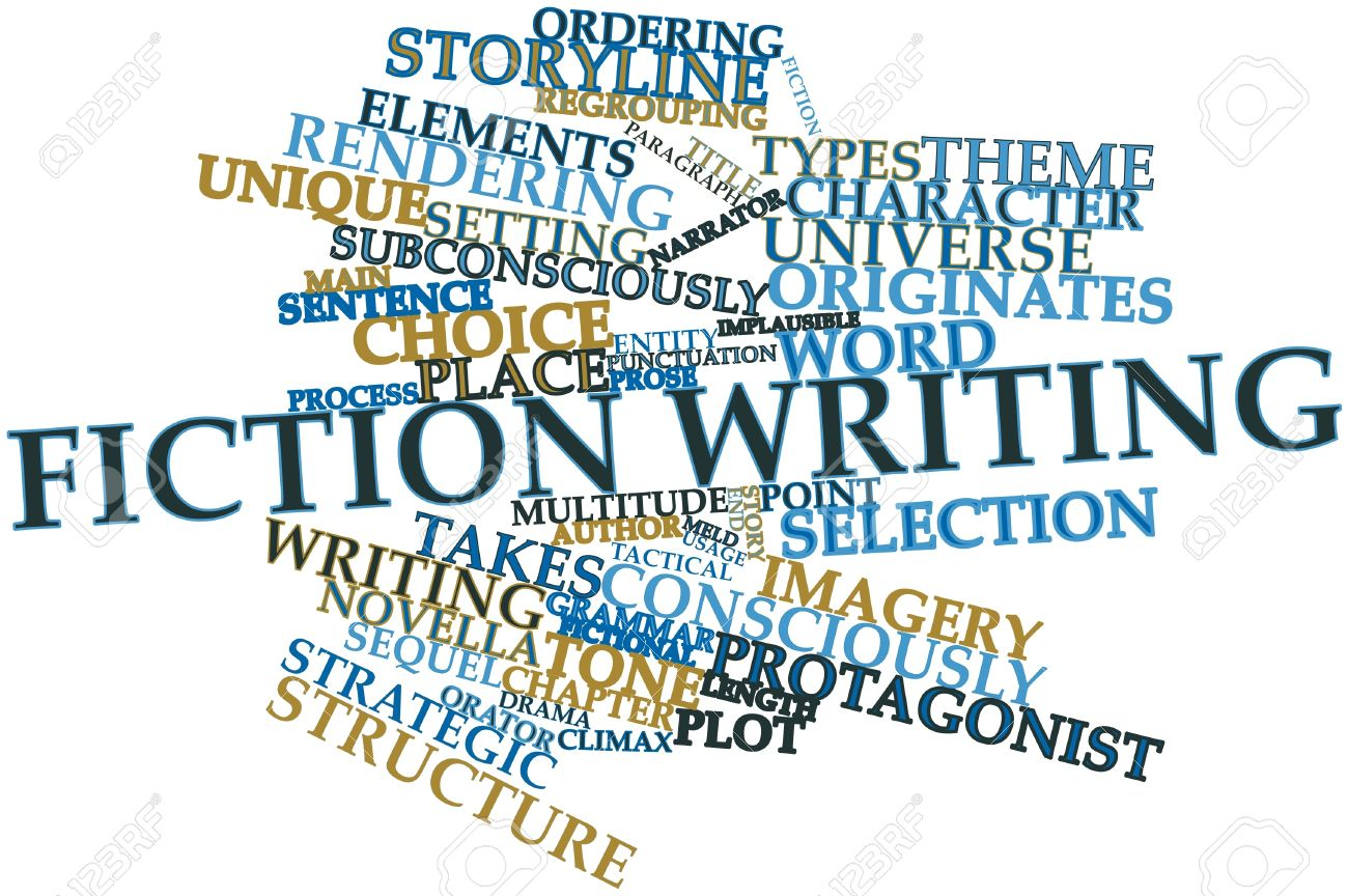 Abstract Word Cloud For Fiction Writing With Related Tags And ...