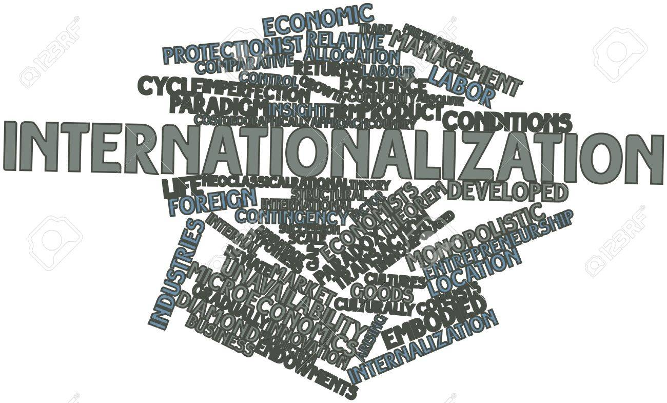 Abstract word cloud for Internationalization with related tags and terms Stock Photo - 17196872