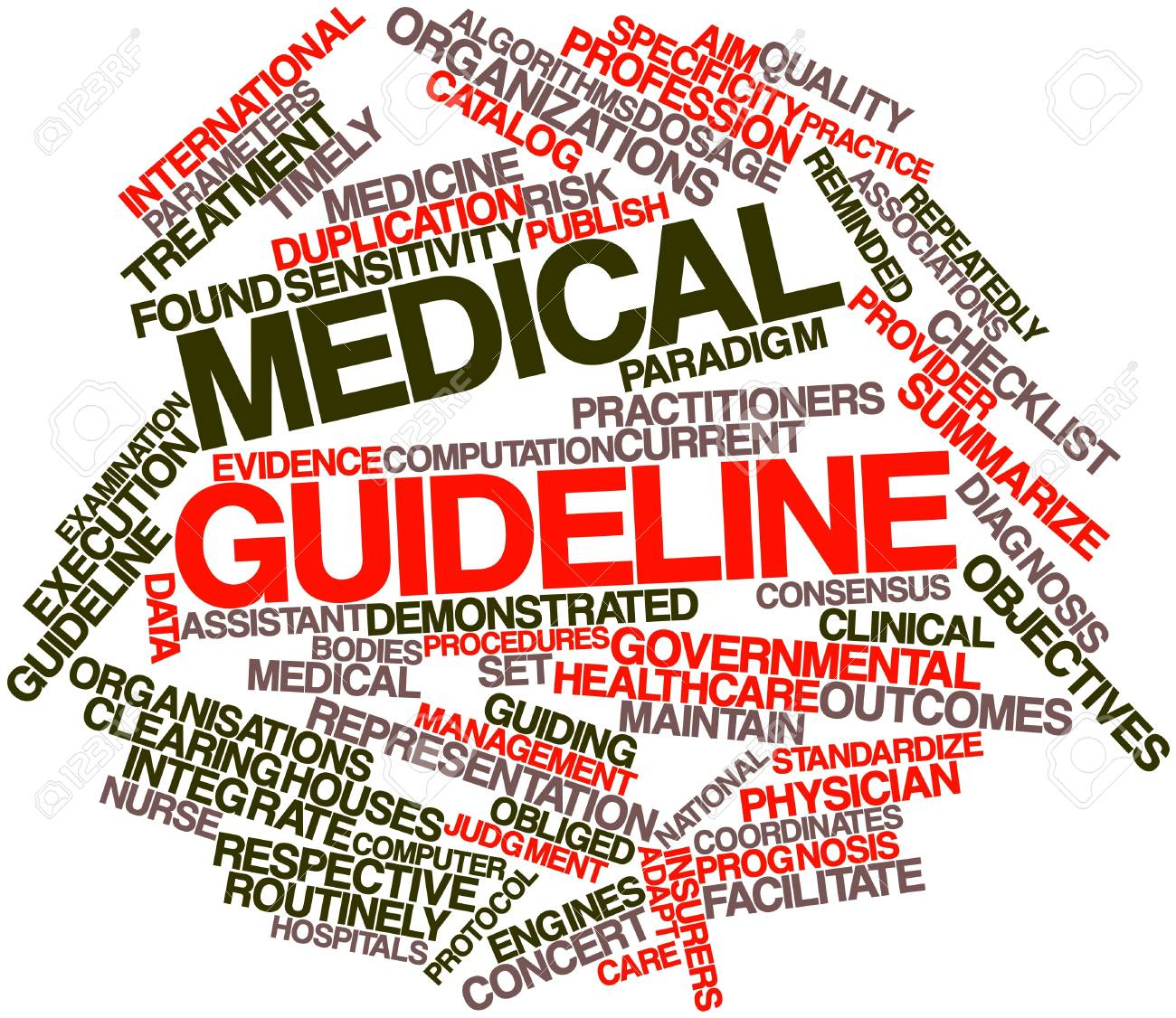 Abstract Word Cloud For Medical Guideline With Related Tags And ...