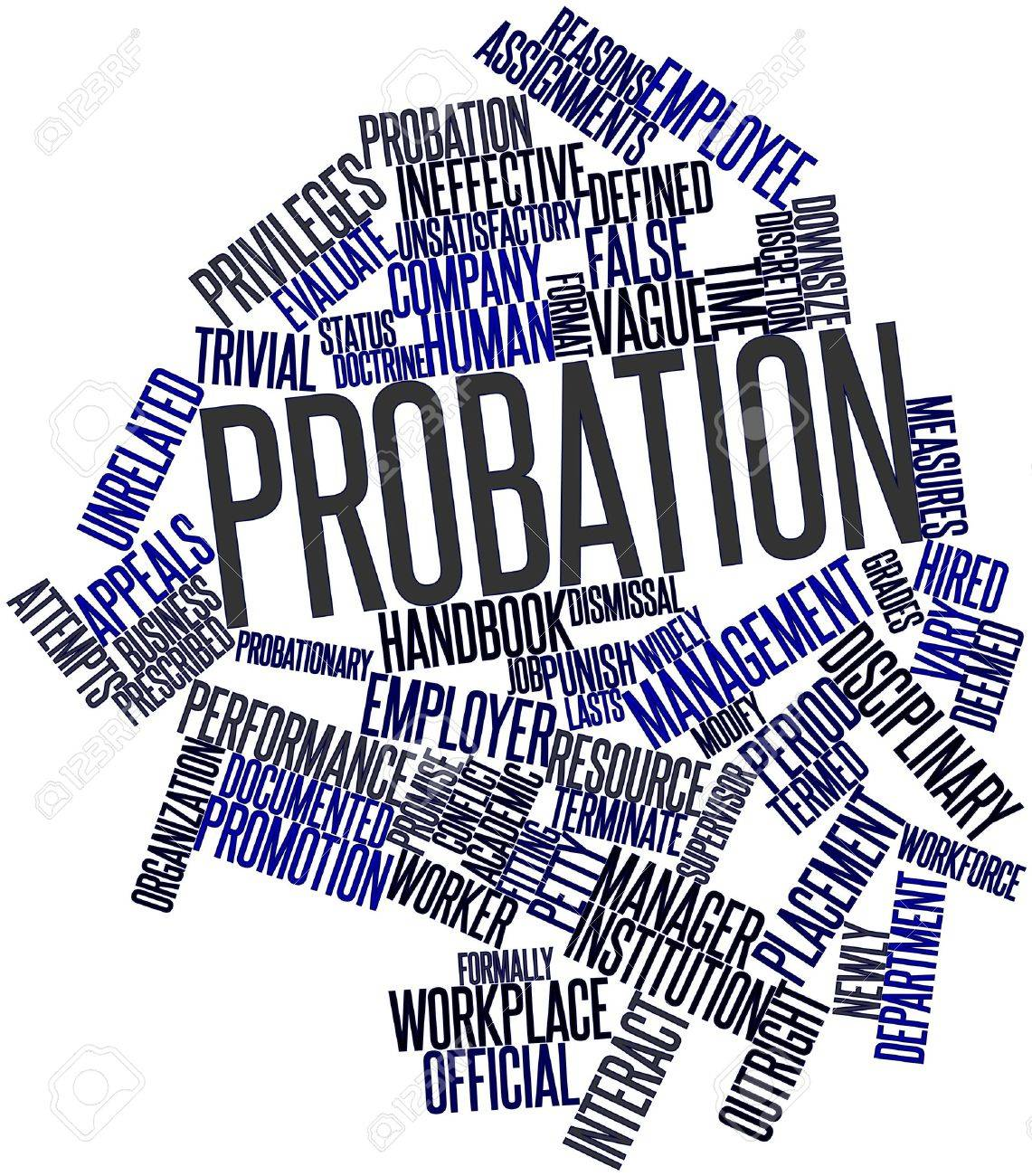 Abstract word cloud for Probation with related tags and terms Stock Photo - 17198384
