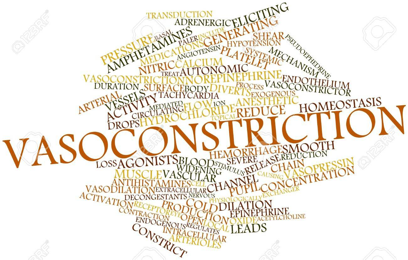 Abstract word cloud for Vasoconstriction with related tags and terms Stock Photo - 17197357