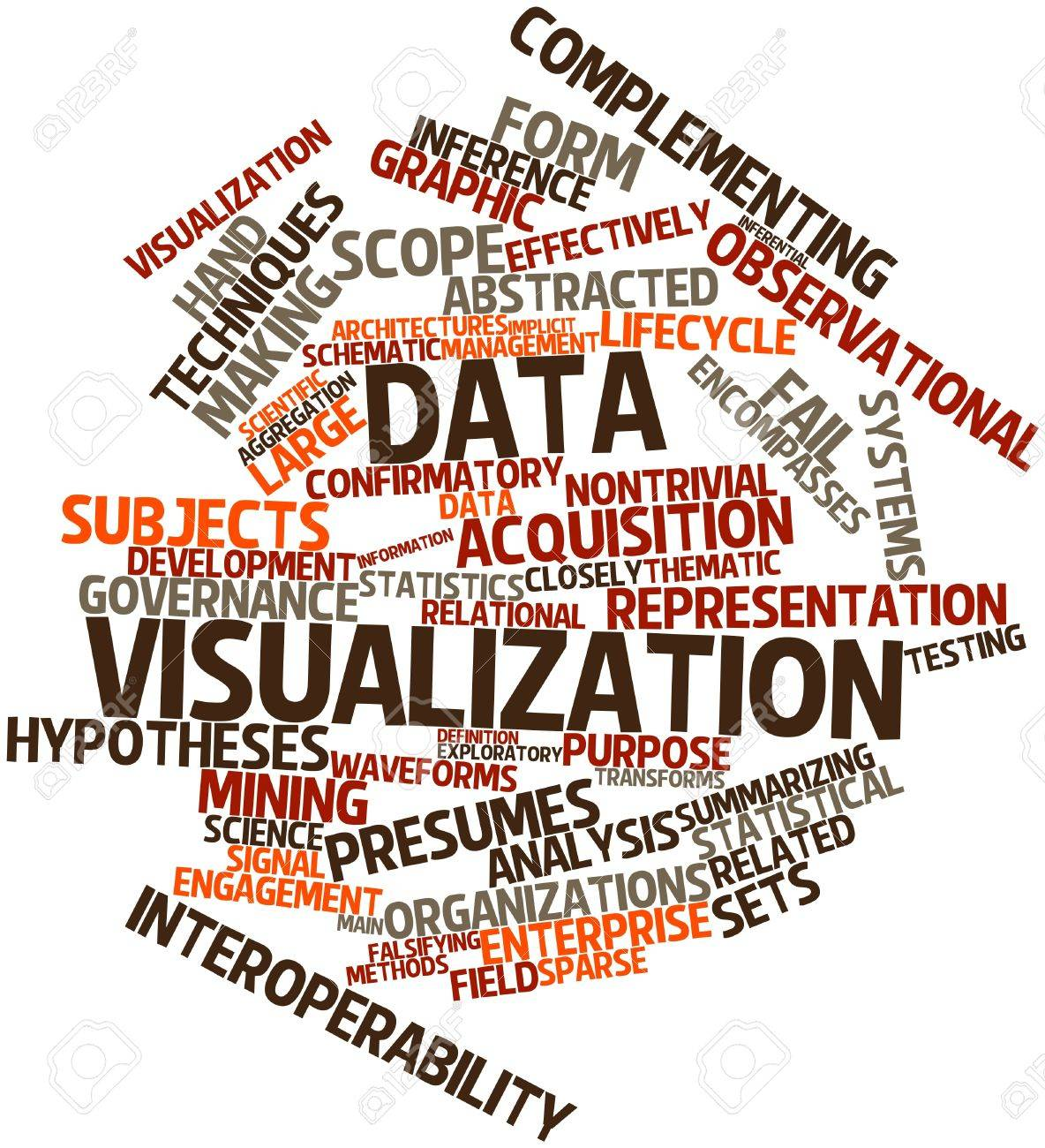 abstract word cloud for data visualization with related tags stock