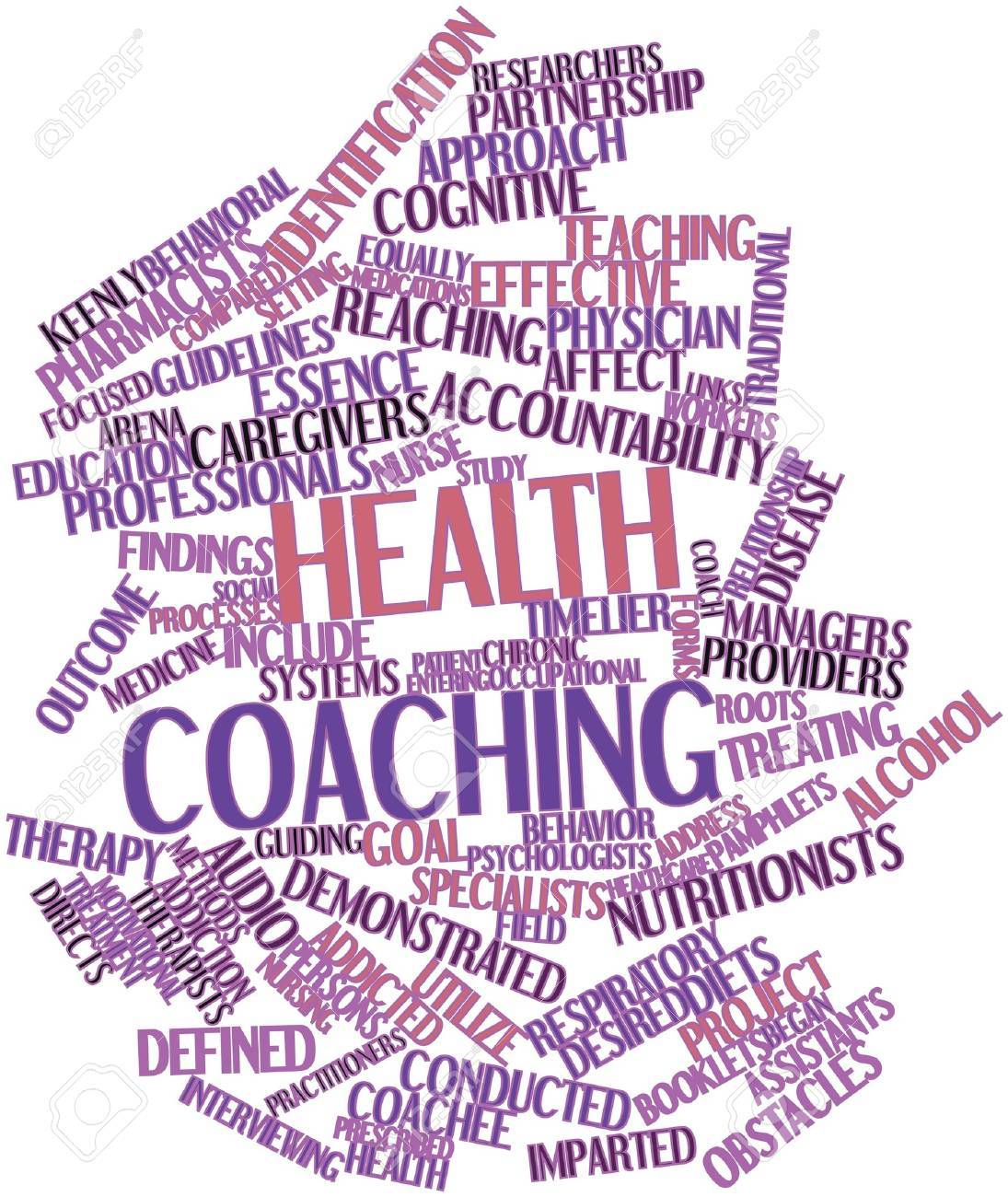 Abstract word cloud for Health coaching with related tags and terms Stock Photo - 17320292