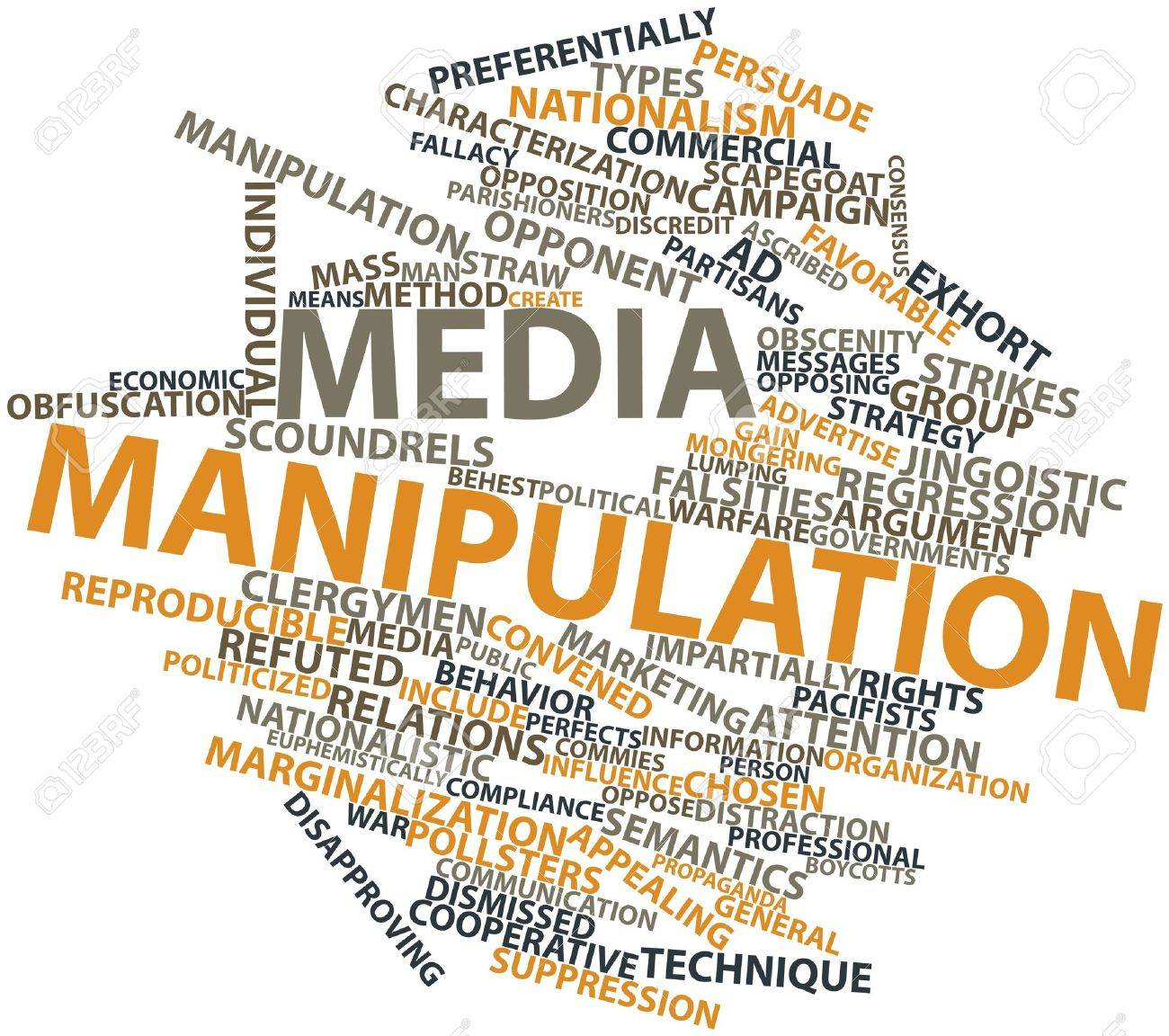 Abstract word cloud for Media manipulation with related tags and terms Stock Photo - 17319842