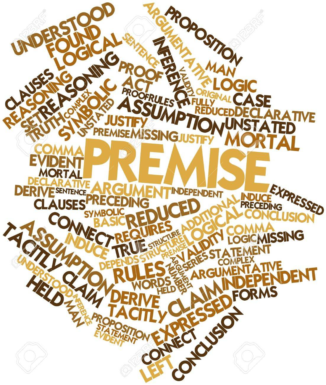 Abstract word cloud for Premise with related tags and terms Stock Photo - 17320140