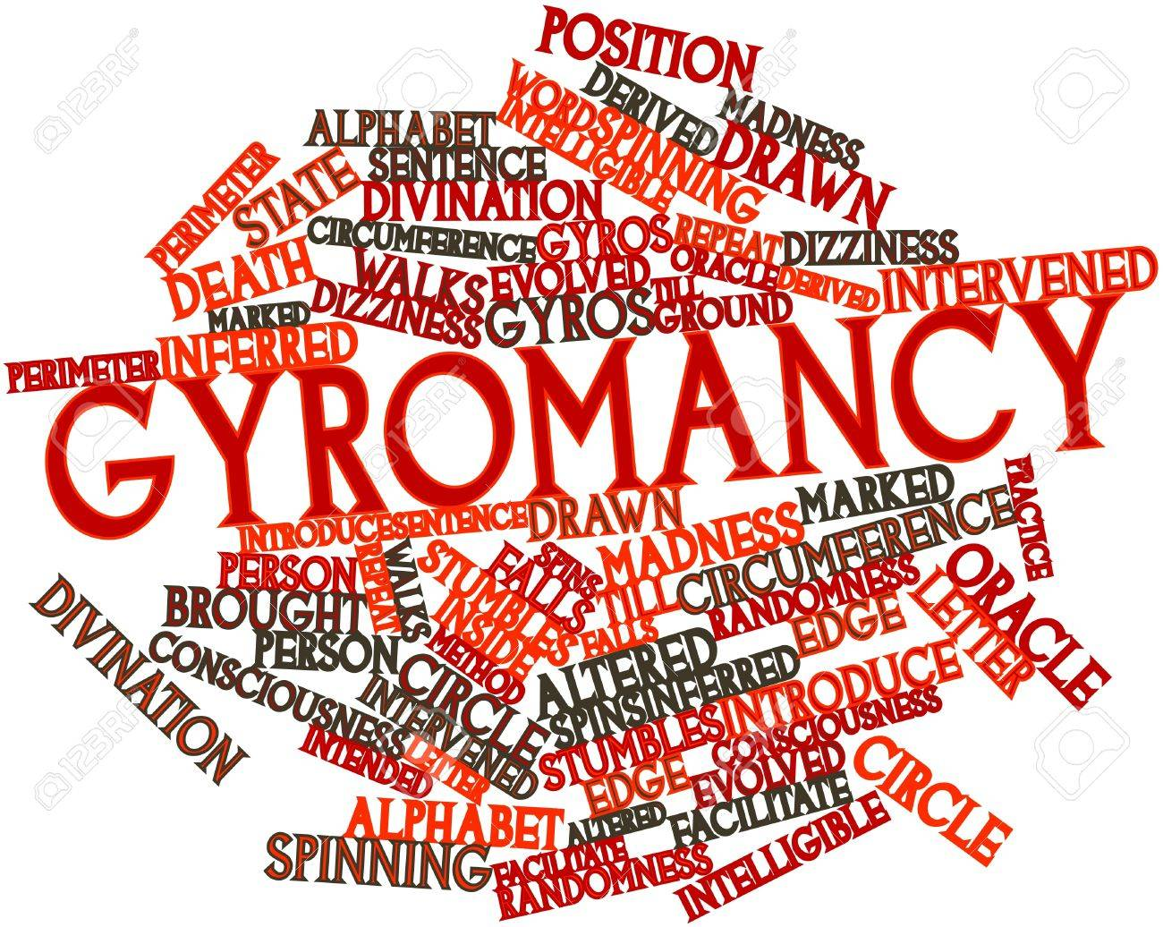 Abstract word cloud for Gyromancy with related tags and terms Stock Photo - 17352266