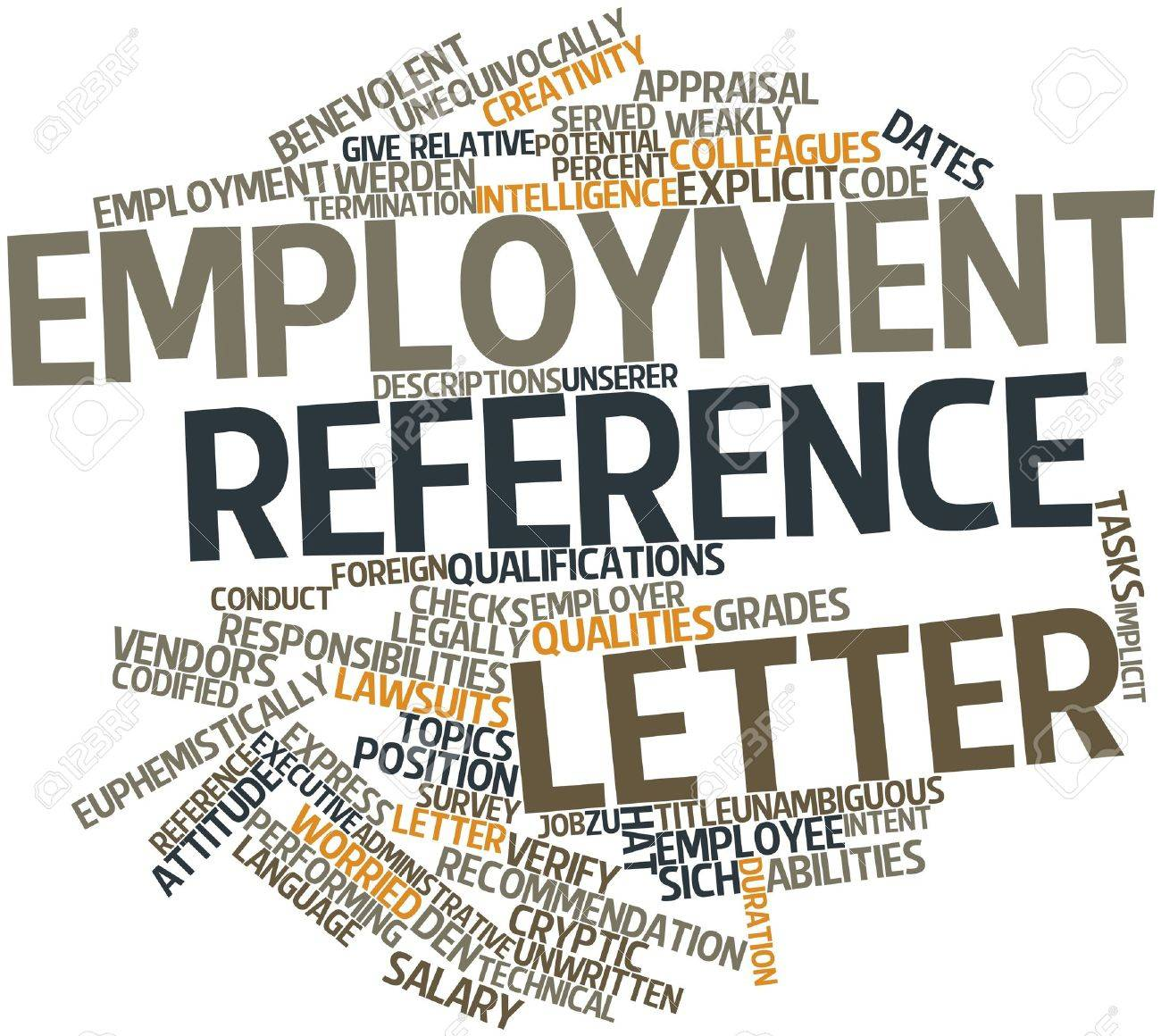 Abstract Word Cloud For Employment Reference Letter With Related ...