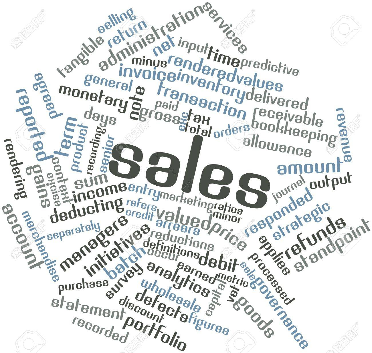 Abstract word cloud for Sales with related tags and terms Stock Photo - 17397712