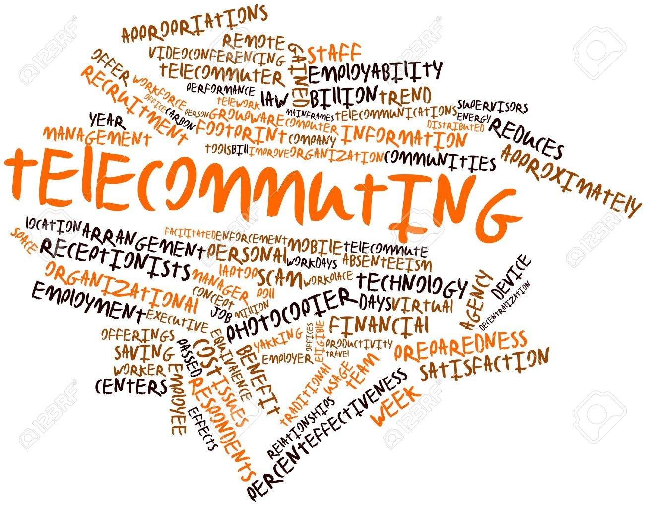 abstract word cloud for telecommuting related tags and terms abstract word cloud for telecommuting related tags and terms stock photo 17397867