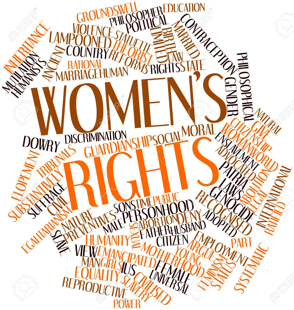 Abstract word cloud for Women's rights with related tags and terms Stock Photo - 17399046