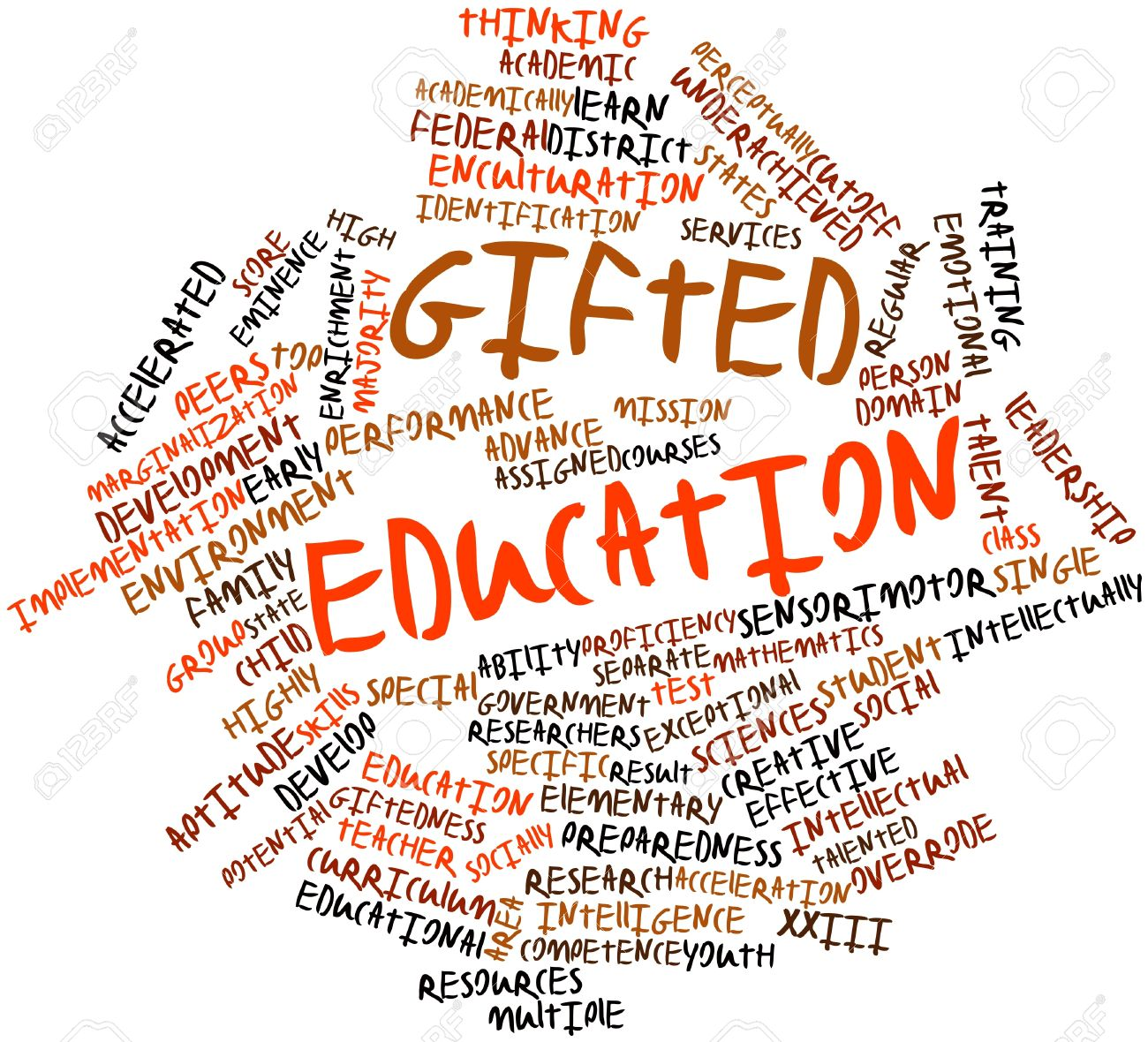 Abstract Word Cloud For Gifted Education With Related Tags And ...