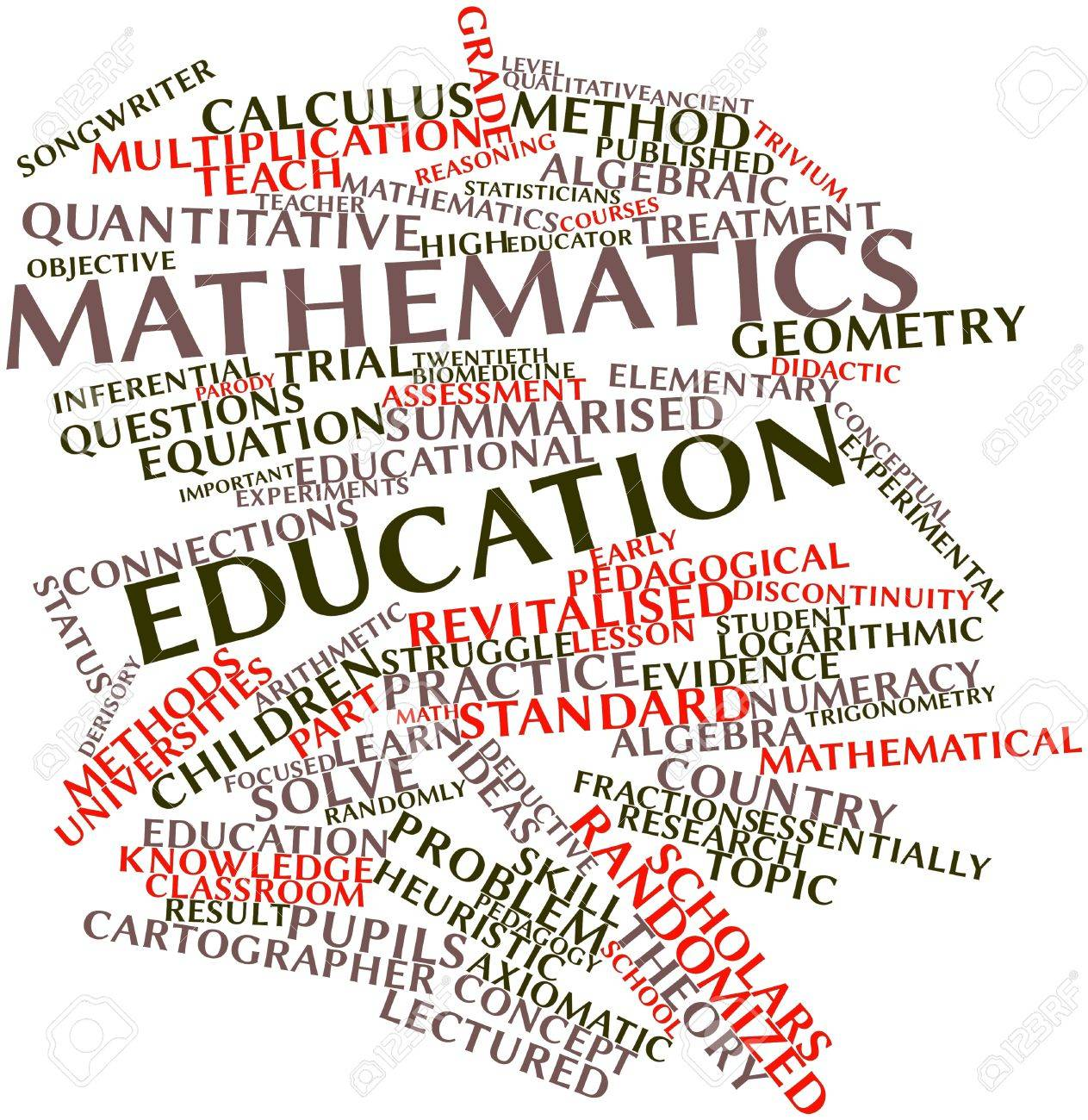 Abstract Word Cloud For Mathematics Education With Related Tags ...