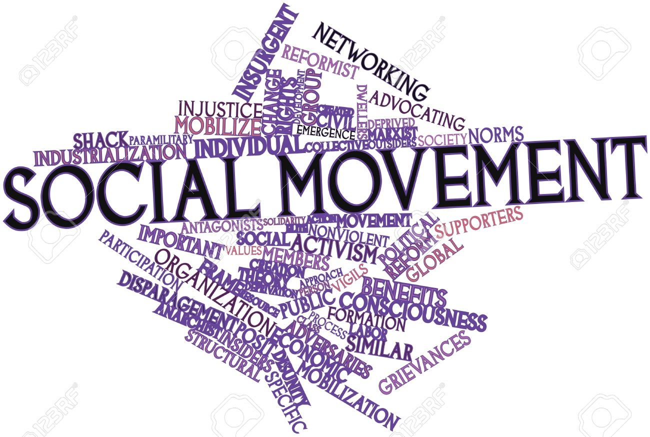 Abstract word cloud for Social movement with related tags and terms Stock Photo - 17427409