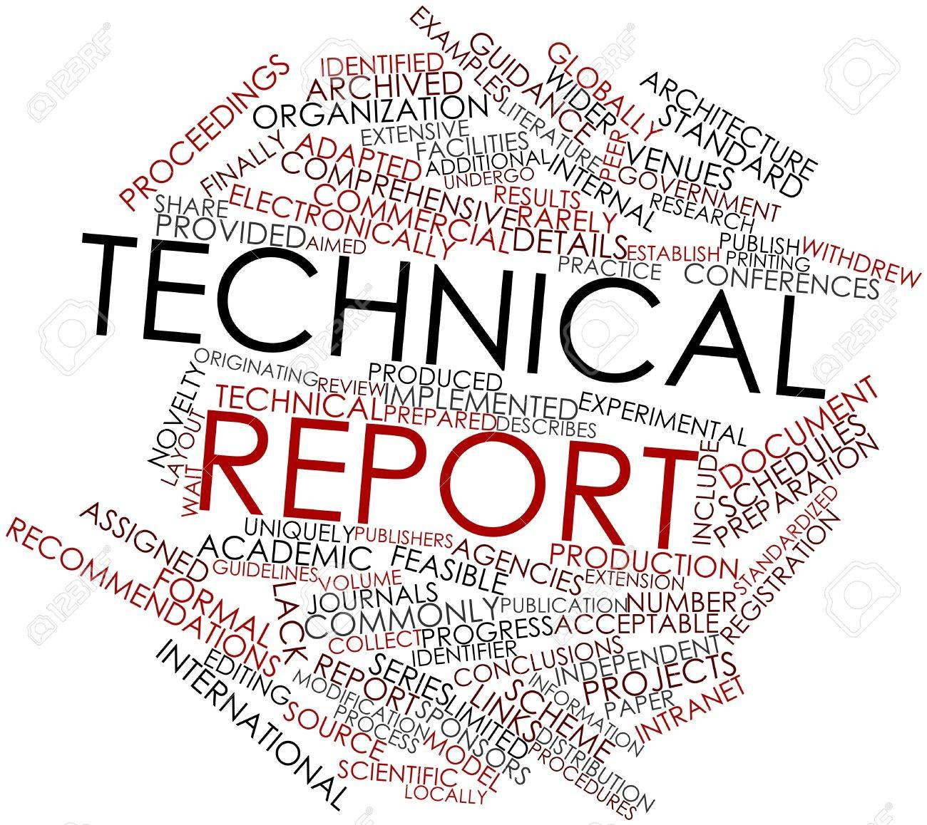 Abstract Word Cloud For Technical Report With Related Tags And ...