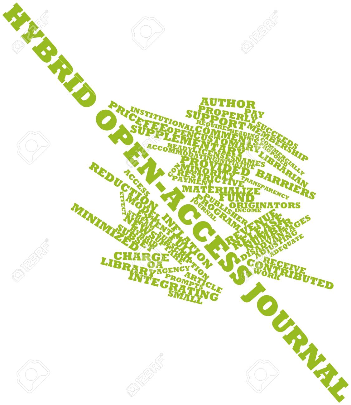 Abstract word cloud for Hybrid open-access journal with related tags and terms Stock Photo - 17463834